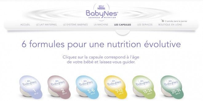 Nestles Babynes – The Keurig for baby formula not available in Canada and the USA, yet