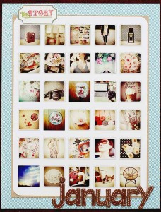 Scrapbooking with mini photos