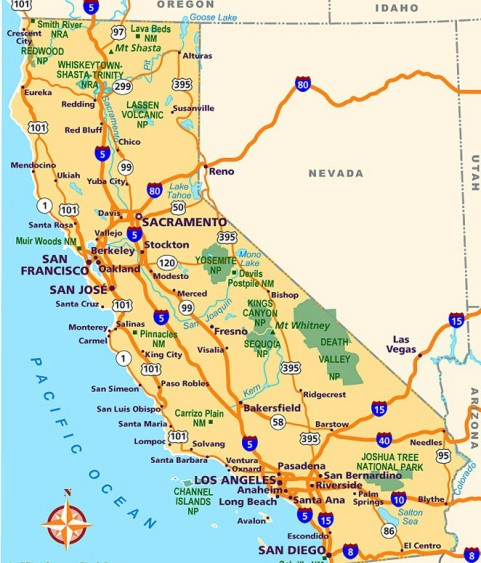 Impertinent image inside printable map of california