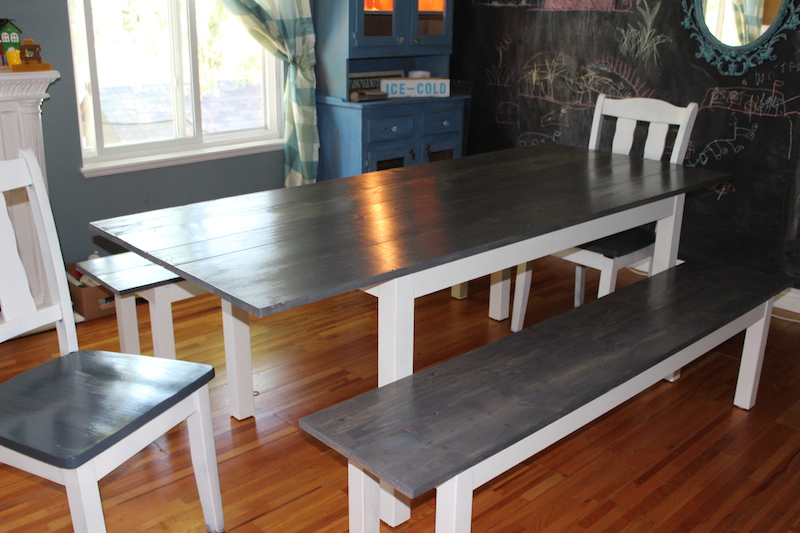 How i forced an ikea table to turn into a diy farmhouse table ikea hacks farmhouse table workwithnaturefo