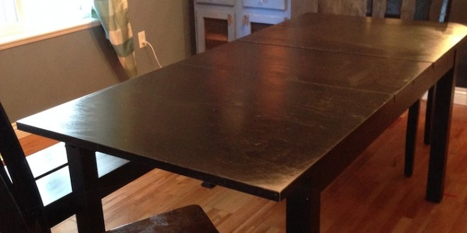 How i forced an ikea table to turn into a diy farmhouse table ikea hacks kitchen table workwithnaturefo