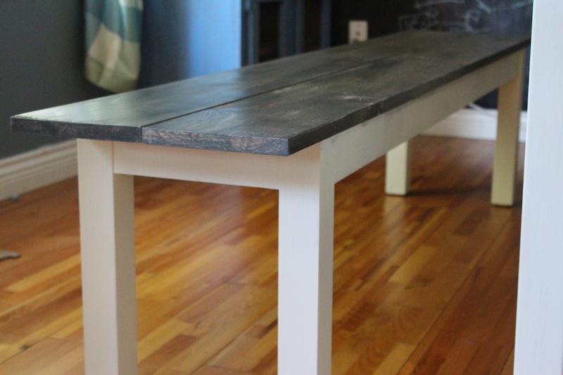 Ikea Hacks Bjursta Benches Farmhouse My Diy Table